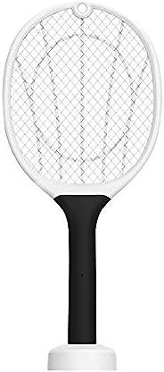 Queenser Mata-moscas elétrico USB recarregável de luz brilhante Zapper Mosquitos Assassino Garra de base remov