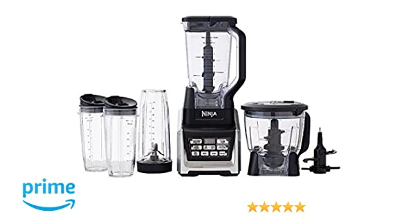 Nutri Ninja Ninja Blender System with Auto-IQ, Includes (2) 24oz and (1) 32oz cups (BL682Z) (Renewed)