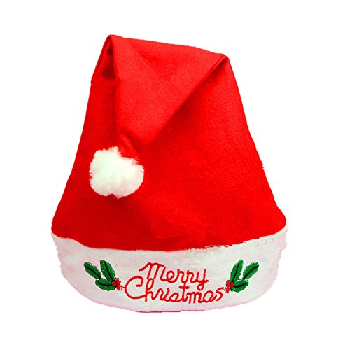 [Christmas Classic Unisex Santa Hat Cap Head Wrap Xmas Gift Festival Ornament] (Black Widow Marvel Makeup)
