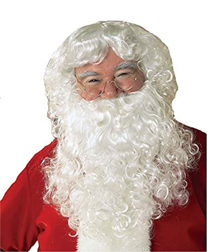 Rubie's White Santa Claus Beard, Wig, and Glasses Set, Adult -