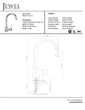 jewel faucets 25572 single hole kitchen faucet with goose neck spout in chrome  wrg 4500] 152fmh wiring harness