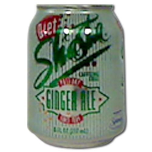 SHASTA Diet Ginger Ale Soda, 8 ounce -- 48 per case.