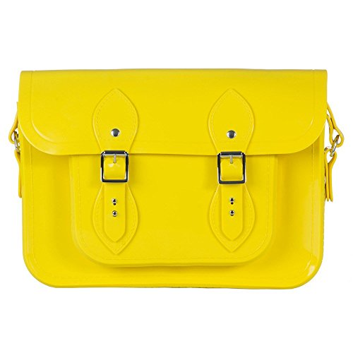 Melissa Womens Satchel + The Cambridge Satchel Co Handbag in Yellow by Melissa