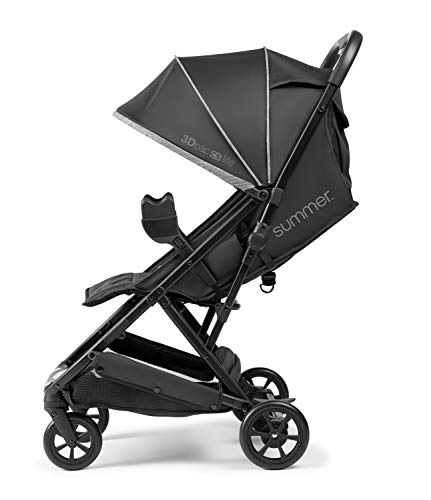 4103U1ZSqaL - Summer 3Dpac CS Lite Compact Fold Stroller, Black – Compact Car Seat Adaptable Baby Stroller – Lightweight Stroller With Convenient One-Hand Fold, Reclining Seat, Extra-Large Canopy, And More