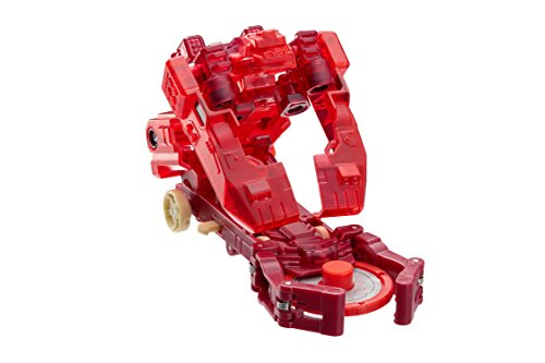 """Screechers Wild - Level 2 Monkeywrench Flipping Morphing Toy Car Vehicle, 3"""" x 2"""", Red"""