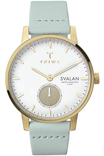 Triwa svalan Womens Analog Japanese Quartz Watch with Leather Bracelet SVST105SS