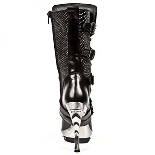 Nuovi Stivali Di Roccia M.punk001-c9 Gotico Hardrock Punk Damen Stiefel Schwarz