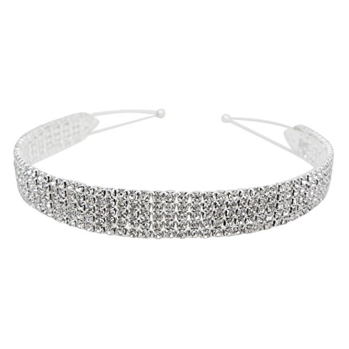 Rosemarie Collections Women's Elegant Sparkle Crystal Fashion Headband