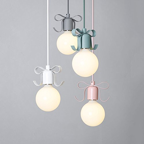W-BRILLIGHT pendant luminaire metal Macarons barbie beautiful girl romantic lighting lamp for lounge children's room Balcony Attic E27 Φ13cm (light bulb not included) (Cherry Blossom - Bronze Cherry Pendant