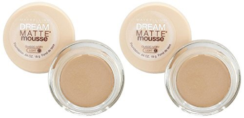 Maybelline Dream Matte Mousse Foundation - Classic Ivory - 2 Pack ()
