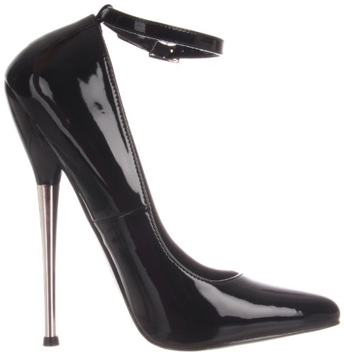 Pleaser Women's Dagger-12/B Pump Black Patent 4MvKZ