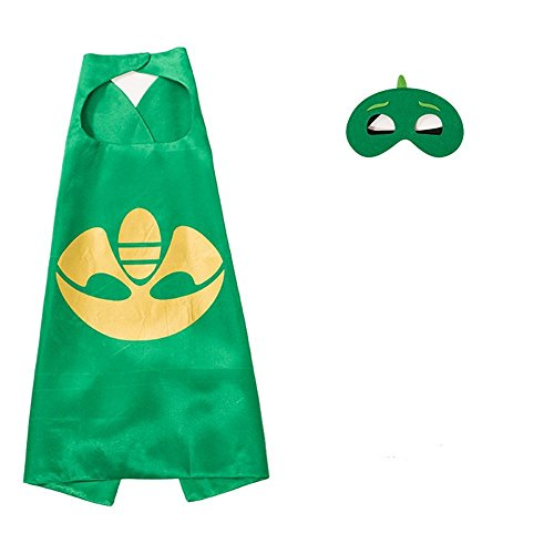 Superhero Masks Costumes and Dress up For Kids - Superhero Catboy Owlette Gekko Capes and Masks 3PCS
