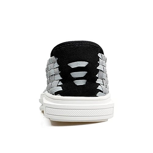 Hombre tamaño Oscuro EU cuadrícula Mocasín Mocasines Mocasines Hombre para Azul 2018 Zapatos de 44 Gris Color Shufang para shoes 86qTZwIC
