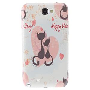 RC - Lovely Cat Pattern Hard Case for Samsung Galaxy Note2 N7100