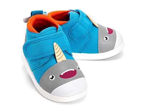ikiki Sascha Narwhalski Squeaky Shoes for Toddlers w/Adjustable Squeaker, Size - Toggle Boys