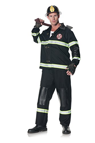 Underwraps Men's Plus-Size Rescuer, Black, XX-Large