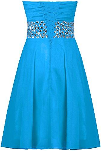 Robes De Bal En Mousseline De Soie Perles De Fourmis Femmes Bleu Robe De Soirée Courte Demoiselle D'honneur