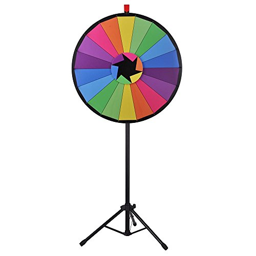 Buy Discount WinSpin 30 Editable Color Prize Wheel of Fortune 18 Slot Floor Stand Tripod Spin Game ...
