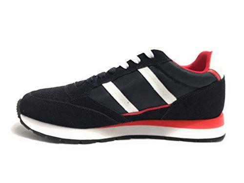 Harmont & Blaine Scarpe Uomo Sneaker Running Tessuto/Pelle Scamosciata Col. Navy Blu US18HB01