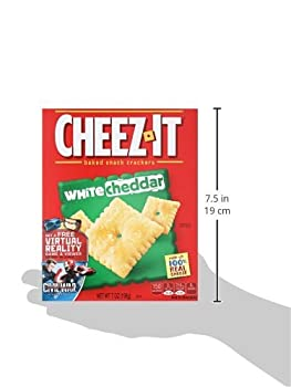 Cheez-it Baked Snack Cheese Crackers, White Cheddar, 7 Oz Box 4