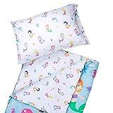 Microfiber Sleeping Bag, Olive Kids by Wildkin Children's Microfiber Sleeping Bag with Matching Pillowcase and Storage Bag, Microfiber, Children Ages 5+ years – Mermaids