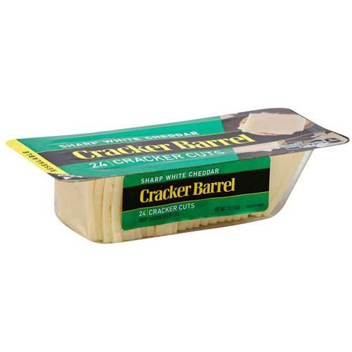 Cracker Barrel Cracker Cuts Natural Sharp White Cheddar Cheese, 7 Ounce -- 12 per case. by Cracker Barrel
