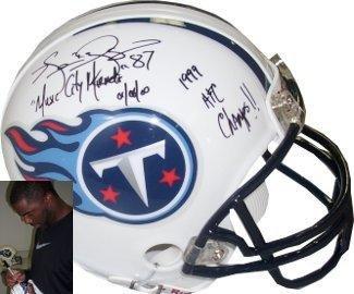 Kevin Dyson Autographed Mini Helmet - Replica Music City Miracle & '99 AFC Champs - Autographed NFL Mini Helmets from Sports Memorabilia