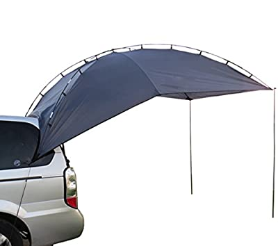 Hasika Awning Camper Trailer Roof Top Family Tent for Beach Camping SUV, MPV, Hatchback and Sedan Anti-uv Tents for Camping 6 Person from Hasika