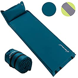 Self Inflating Sleeping Pad for Camping – 1.5 Inch Camping Pad, Lightweight Inflatable Camping Mattress Pad, Insulated Foam Sleeping Mat for Backpacking, Tent, Hammock