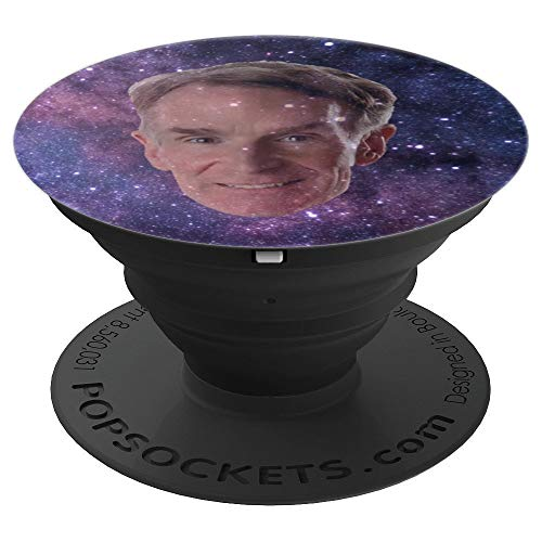 Bill Nye The Science Guy Galaxy Face - PopSockets Grip and Stand for Phones and Tablets for $<!--$14.99-->