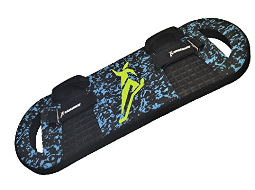 BOUNCEBOARD Elite Performance Board, Neon Green Balance Snowboard Bindings