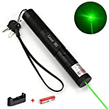2. Green Laser Pointer Tactical Hunting Rifle Scope Sight Laser Pen, Demo Remote Pen Pointer Projector Travel Outdoor Flashlight, LED Interactive Baton Funny Laser Toy
