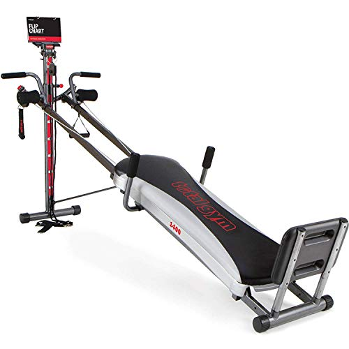 Total Gym 1400 Deluxe Home Fitness Exercise Machine Equipment with Workout -