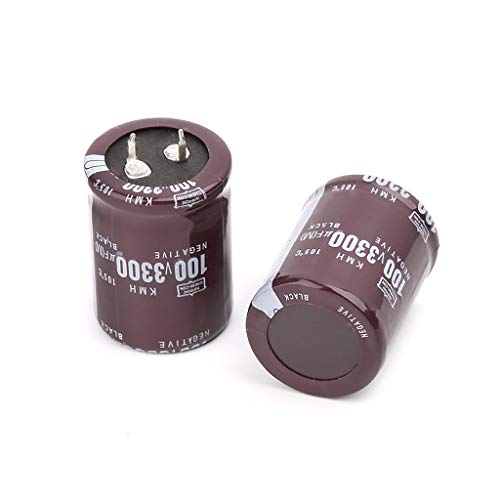2pcs Aluminium Electrolytic Capacitors 100V 3300uF Volume 30x40mm for LCD TV ()