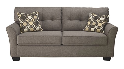 Ashley Single Bed - Ashley Furniture Signature Design - Tibbee Full Sofa Sleeper - Sleek Tailored Couch with Pull Out - Slate