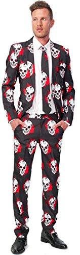Skull Blood Suitmeister Adult Costume (Halloween Ads)