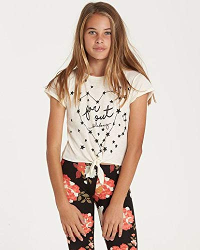 (Billabong Girls' Big Knot It Top, Cream, L)