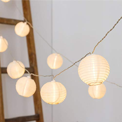Vigdur Fairy Lights Mini-Lantern String Lights Waterproof Connectable Nylon Hanging Light Plug in White Decorative for Patio Wedding Party Bedroom Indoor Outdoor Use,9.84FT