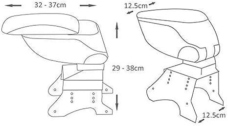 Boloromo 48014 Mittelarmlehne Armlehne Mit Schiebeplatte Universal Konsole Mittelkonsole Grau Auto