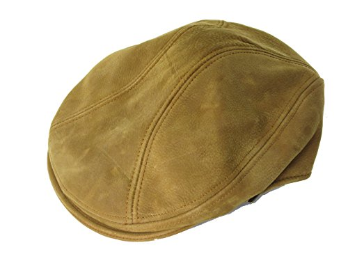 Stetson Classic Hat (STETSON CLASSIC LEATHER COLLECTION IVY CABBIE NEWSBOY CAP (STW609) (SMALL/MEDIUM, MUSTARD BROWN))