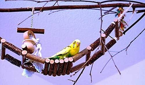 Vogelgaleria Handmade Climbing Bridge Natural Wood Great ladder for bird cages