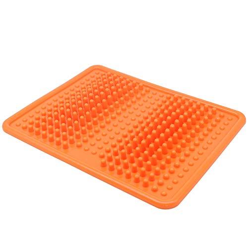 Foot Massager Mat, Acupressure Relaxation Reflexology Mat for Plantar Fasciitis, Heel, Arch Pain & Stress – Perfect Gift (Orange)