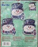 Bucilla Snowman - Frosty Faces - Mini Ornaments - Kit 84443