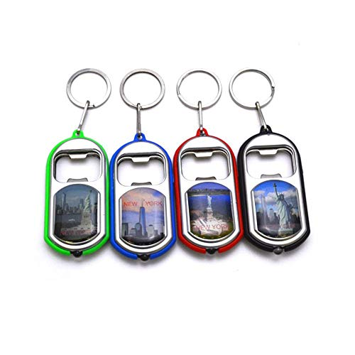 (12 Pack New York NYC Souvenir Key Chain with Light Bottle Opener Convenient Gadget Christmas Gift (12 Counts) (Light-up))