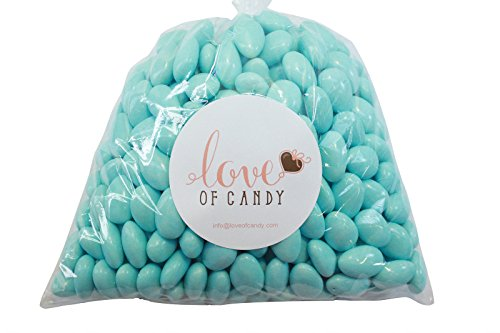 Love of Candy Bulk Candy - Light Blue Jordan Almonds - 2lb Bag