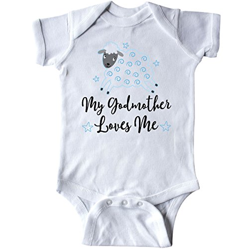 inktastic - Godmother Gift for Godson Lamb Infant Creeper 24 Months White 2bf68