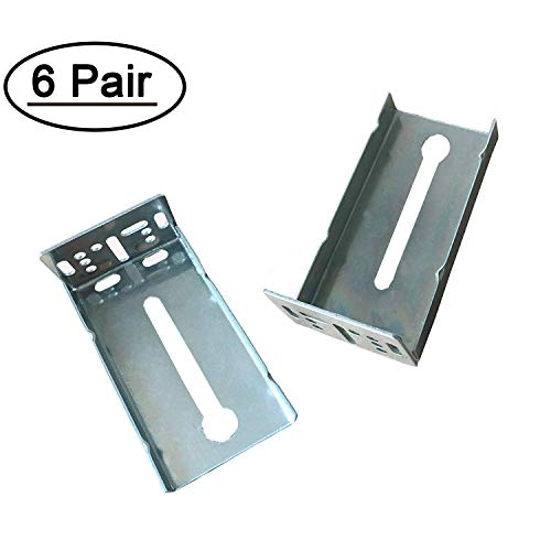 Rear Mounting Brackets for Drawer Slide 6 Pairs - LONTAN B4502 Cabinet Drawer Bracket for Face Frame Cabinets for 1.77 inch(45mm) Width Drawer Gildes
