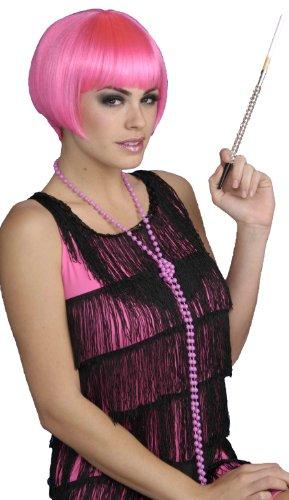 Charleston Chic Wig - Forum Novelties Women's Charleston Chic Bob Flapper Costume Wig, Pink, One Size