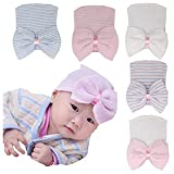 Ademoo Baby Girls Hats Newborn Hospital Hat with Bow