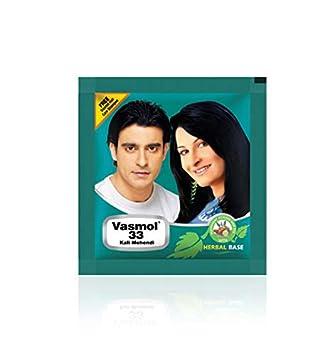 10ce1ff53 Amazon.com : Vasmol 33 Kali Mehendi Powder Hair Dye - 5gm x 12-60gm - Free  Vasmol Hair Shampoo : Beauty